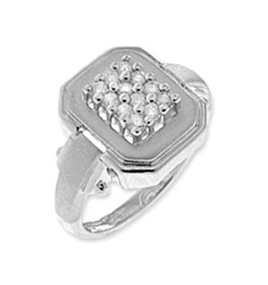 9K White Gold Diamond Pave Ring (0.25ct)