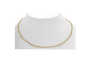 9K Gold Diamond Rubover Necklace