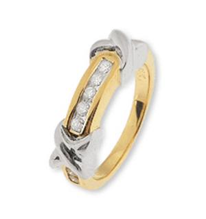 18K Gold Channel Set Diamond Ring (0.25ct)