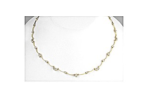 9K Gold Diamond Moon and Stars Necklace
