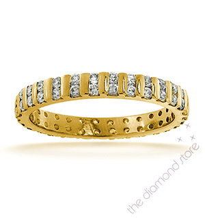 ELLIE 18K Gold DIAMOND FULL ETERNITY RING 0.50CT H/SI