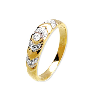 9K Gold Diamond Rings (0.13ct)