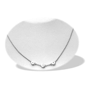 9K White Gold Diamond Design Necklace (0.06ct)