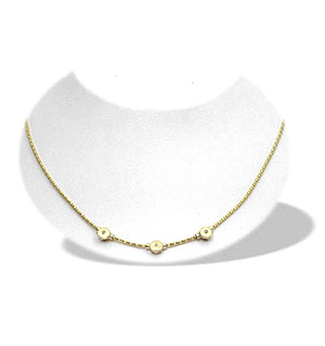9K Gold Diamond Design Necklace (0.06ct)