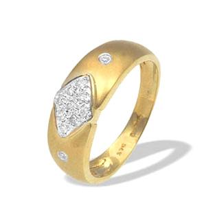 9K Gold Diamond Design Rings (0.11ct)
