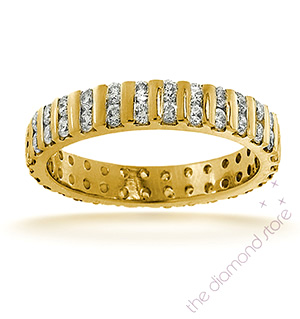ELLIE 18K Gold DIAMOND FULL ETERNITY RING 2.00CT H/SI