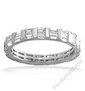 JESSICA PLATINUM DIAMOND FULL ETERNITY RING 2.00CT H/SI