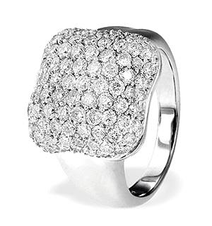 18K White Gold Pave Diamond Ladies Ring (2.15ct)