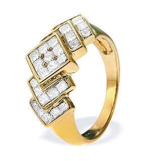 18K Gold Princess Cut Dia Ring (1.50ct)