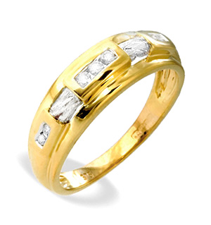 9K Gold Diamond Channel Set Ring (0.10ct)
