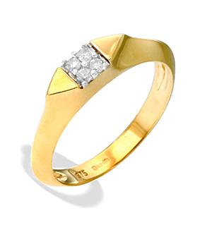 9K Gold Diamond Detail Ring(0.10ct)