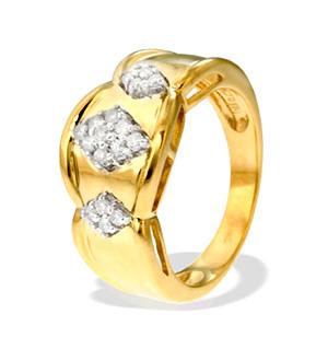 9K Gold Diamond Ring (0.24ct)