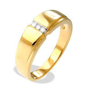 9K Gold Diamond Ring(0.05ct)