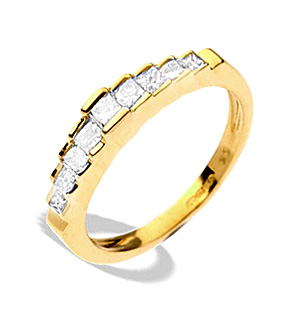9K Gold Diamond Tiered Ring (0.55ct)