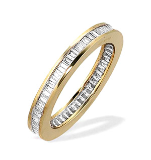 9K Gold Baguette Diamond Eternity Ring