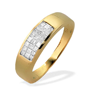 9K Gold Princess Diamond Ring (0.33ct)