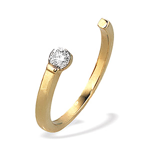 9K Gold Single Stone Diamond Ring (0.20ct)