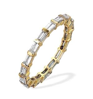 9K Gold Baguette and Bar Full Eternity Diamond Ring (1.25ct)