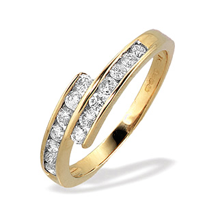 9K White Gold Channel Set Diamond Ring