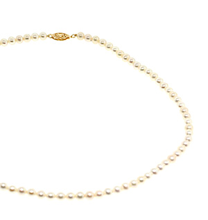 16.5 Inch Fresh Water Pearl Necklace With 9K Gold Clasp