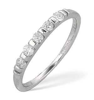 Half Eternity Ring 0.24CT Diamond 9K White Gold