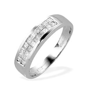 9K White Gold Channel Set Princess Diamond Ring