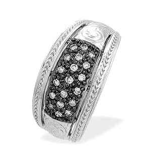 9K White Gold Diamond Pave Ring