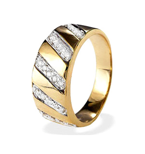 9K Gold Diamond Ring (0.25ct)