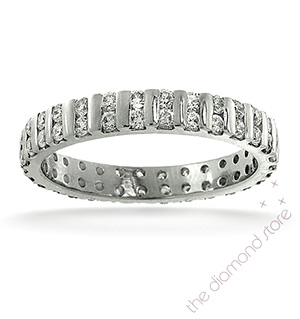 ELLIE PLATINUM DIAMOND FULL ETERNITY RING 1.00CT H/SI