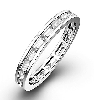 ABIGAIL PLATINUM DIAMOND FULL ETERNITY RING 1.00CT G/VS