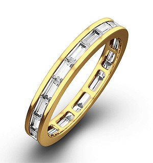 ABIGAIL 18K Gold DIAMOND FULL ETERNITY RING 1.00CT G/VS