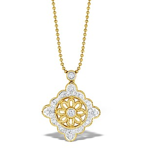 9K Gold Diamond Drop Necklace