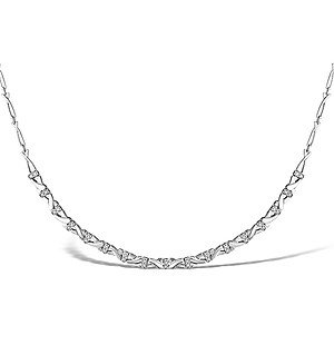 9K White Gold Diamond Kisses Necklace