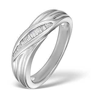 9K White Gold Diamond Channel Set Ring - E3585