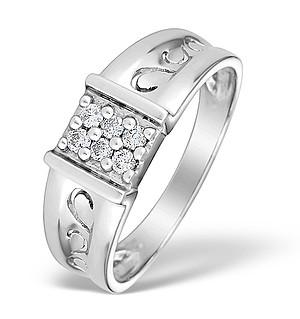 9K White Gold Diamond Pave Set Ring - E3632