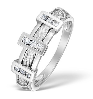 9K White Gold Diamond Set Ring - E3729