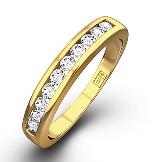 Half Eternity Ring 0.20CT Diamond 9K Yellow Gold