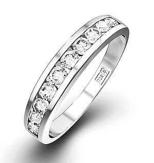 Half Eternity Ring 0.50CT Diamond 9K White Gold