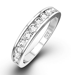 Half Eternity Ring 0.75CT Diamond 9K White Gold