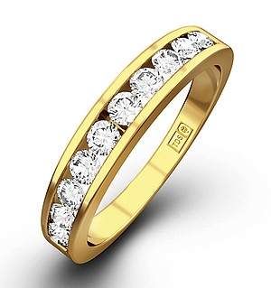 Half Eternity Ring 0.75CT Diamond 9K Yellow Gold