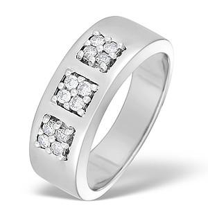 9K White Gold Diamond Set Ring - E3817