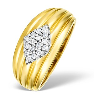 9K Gold Diamond Pave Set Ring - E3948