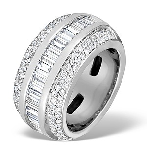 9K White Gold Diamond Pave and Channel Set Ring - E3086