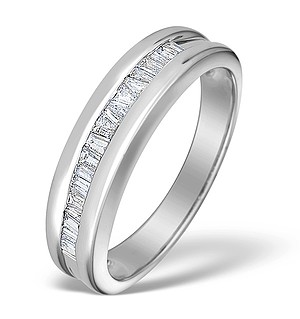9K White Gold Diamond Channel Set Ring - E3088