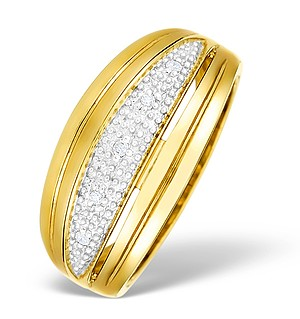 9K Gold Diamond Pave Set Ring - E4294