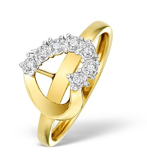 9K Gold Diamond Set Heart Ring - E4211