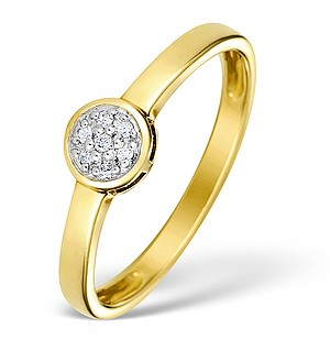9K Gold Diamond Solitaire Ring - E4625