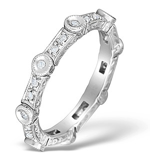 9K White Gold Diamond Design Ring - E4797