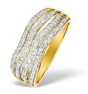 9K Pave Set Diamond Design Ring - E4706