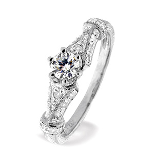 9K White Gold Ring (0.20ct   0.25ct)